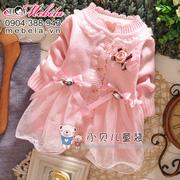 Ảnh số 54: V522 Váy len gắn hoa hồng ấm áp dễ thương cho bé gái 8-10-12 cân - Giá: 230.000
