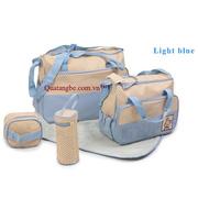 Ảnh số 11: Túi mẹ và bé 5 chi tiết xanh da trời - Giá: 300.000