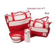 Ảnh số 13: Túi mẹ và bé 5 chi tiết đỏ - Giá: 300.000