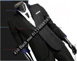 ?nh s? 94: vest cổ tròn đen không pha - Giá: 2.300.000