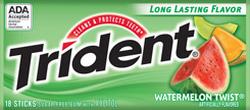Ảnh số 3: Kẹo cao su Trident dưa hấu - Giá: 25.000
