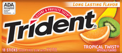 Ảnh số 4: Kẹo cao su Trident cam - Giá: 25.000