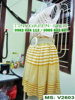 Ảnh số 24: Váy cotton dáng xòe - Giá: 80.000