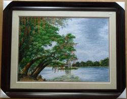 Ảnh số 67: Hồ Gươm và cây lộc vừng - Giá: 2.600.000