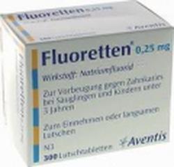 Ảnh số 1: Fluoretten 0,25mg - Giá: 420.000