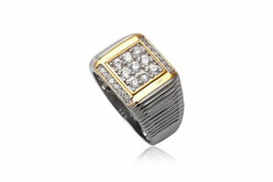 ?nh s? 3: TrangsucLUNA Nhẫn nam đính kim cương nhân tạo xi phủ vàng trắng vàng tây 18k - Giá: 1.090.000