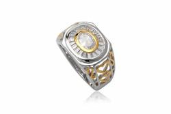 ?nh s? 4: TrangsucLUNA Nhẫn nam đính kim cương nhân tạo xi phủ vàng trắng vàng tây 18k - Giá: 1.390.000