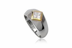 ?nh s? 13: TrangsucLUNA Nhẫn nam đính kim cương nhân tạo xi phủ vàng trắng vàng tây 18k - Giá: 730.000