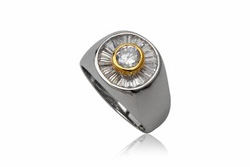 ?nh s? 17: TrangsucLUNA Nhẫn nam đính kim cương nhân tạo xi phủ vàng trắng vàng tây 18k - Giá: 1.360.000