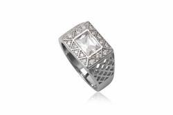 ?nh s? 30: TrangsucLUNA Nhẫn nam đính kim cương nhân tạo xi phủ vàng trắng vàng tây 18k - Giá: 1.180.000