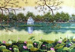 Ảnh số 28: Hồ Gươm sen - Giá: 900.000