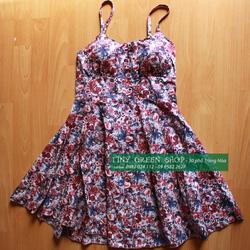Ảnh số 60: Váy 2 dây hoa có bra - Giá: 160.000