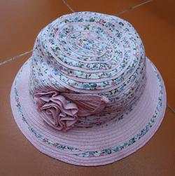 Ảnh số 34: Mũ nan nơ hồng pha vải - Giá: 70.000