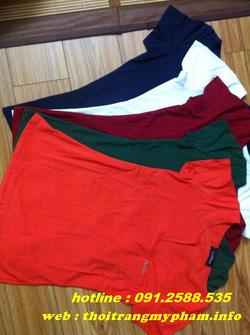 Ảnh số 26: áo phông cổ V nhiều màu - Giá: 165.000