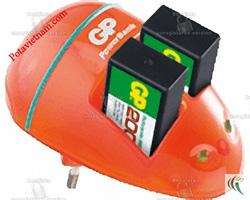 ?nh s? 17: Bộ, máy điện sạc pin thông dụng 9V, sạc pin tiêu chuẩn 10h, 2 khay sạc pin 9V, không kèm pin sạc, Sạc pin GP PB09GS-2UW1 - Giá: 170.000