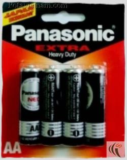 ?nh s? 24: Pin tiểu AA, Pin thông dụng, Pin Carbonzinc, Pin Panasonic extra heavy duty R6NT/4B - Đen ( 1 Gói/ 4 Viên pin) - Giá: 19.500