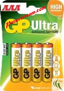 ?nh s? 69: Pin đũa AAA, Pin cao cấp máy ảnh-chụp hình và máy quay, Pin 1.5V, Pin Kiềm Alkaline, Pin GP ULTRA 24AUOK-U4 (1 Vỉ / 4 viên pin) - Giá: 35.000
