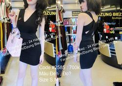 Ảnh số 3: váy chanel côr V xoắn lưng - Giá: 550.000