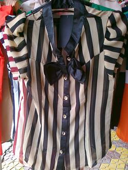 Ảnh số 5: áo kẻ nơ - Giá: 130.000
