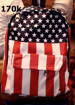 Ảnh số 2: balo cờ mĩ - Giá: 170.000