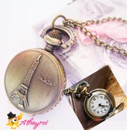 Ảnh số 12: DCDH 025_Dây chuyền đồng hồ tháp pari loại nhỏ  - 110.000 VNĐ - Giá: 110.000