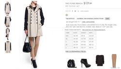 Ảnh số 66: ♥MNG Two tones trench - Áo khoác MNG,Web đang bán 129$, Store MNG ở Vincom và Parkson đang bán > 2.5tr. Các mẹ có thể qua đó để check chất lượng.  ♥ X - Giá: 800.000