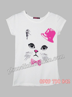 Ảnh số 1: áo thun hình nón mèo - Giá: 45.000