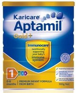 ?nh s? 41: Karicare  Aptamil  số 1( Karicare Aptamil  Gold+ Infant  Formula)  (Từ 0- 6 tháng). Giá 535K/hộp 900g - Giá: 535.000