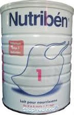 ?nh s? 45: Sữa Nutriben Số 1-900g: Dành cho bé từ 0 - 6 tháng. Giá 480K/hộp - mua cả thùng (6h). - Giá: 480.000