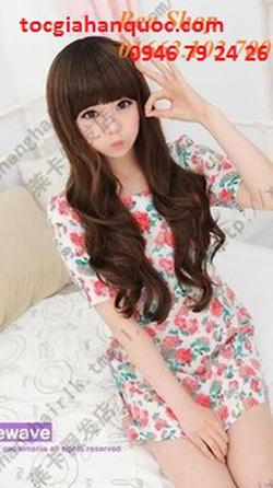 ?nh s? 96: Korea tóc xoăn nhẹ mái bằng - Giá: 800.000