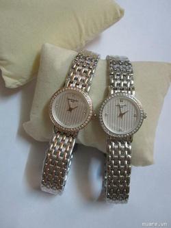 Ảnh số 17: Đồng hồ đôi cao cấp Patex cho nữ- Nam vành hạt đá - Giá: 1.400.000