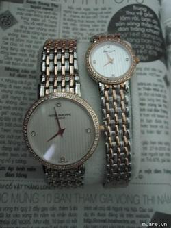 Ảnh số 18: Đồng hồ đôi cao cấp Patex cho nữ- Nam vành hạt đá - Giá: 1.400.000