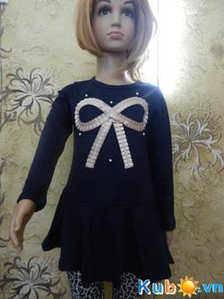 Ảnh số 4: Váy nơ ngực xuất Nhật cho bé gái từ 3 đến 10 tuổi (có 2 màu xanh, cam), giá cửa hàng: 200k - Giá: 200.000