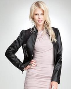 ?nh s? 1: Bebe Leather Lace Jacket - Giá: 4.000.000