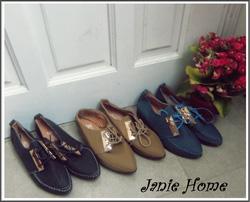 Ảnh số 13: Giày oxford kẹp sắt 3 màu đen, xanh, nâu - Giá: 220.000