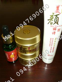 Ảnh số 67: Bộ kem đặc trị nám trắng da tinh dầu MEI YAN LI SHI - Giá: 900.000