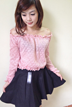 ?nh s? 25: áo len trễ vai tay chun - Giá: 190.000