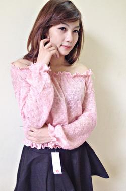 ?nh s? 26: áo len trễ vai tay chun - Giá: 190.000