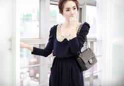 Ảnh số 22: Váy thu cổ ren (RX90) - Giá: 185.000
