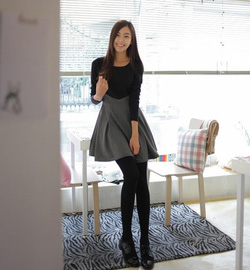 Ảnh số 28: Váy công sở dài tay dáng xòe (MS: RX62) - Giá: 255.000