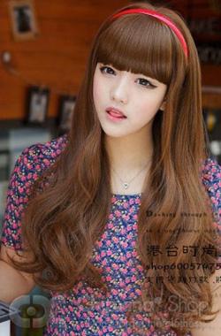 Ảnh số 45: Tóc dành cho Cô Dâu xinh xoăn nhẹ Hàn quốc - Giá: 800.000