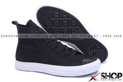 Ảnh số 56: Giày Converse Kaki Viền Da đen cao cổ - Giá: 499.000