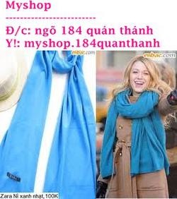 Ảnh số 44: Khăn Zara 90k (nhiều màu) làm đc khăn đôi nhé - Giá: 90.000