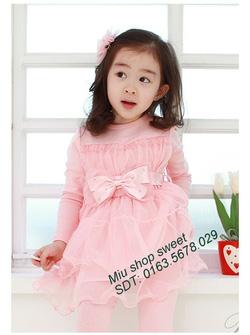 Ảnh số 2: Váy xuất khẩu ren hồng phấn - Giá: 170.000