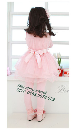 Ảnh số 3: Váy xuất khẩu ren hồng phấn - Giá: 170.000