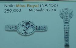 Ảnh số 31: Nhẫn miss royal - Giá: 259.000