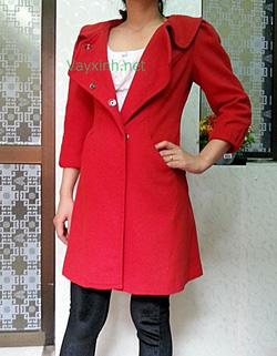 Ảnh số 3: Áo dạ đỏ bóc đô - Giá: 920.000