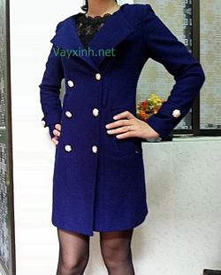 Ảnh số 12: Áo dạ nữ xanh - Giá: 920.000