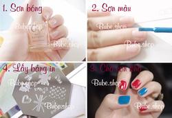 Ảnh số 17: Stamping nail art bube shop - Giá: 20.000