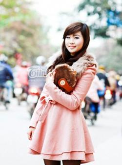 ?nh s? 1: áo dạ vải gai hồng - Giá: 550.000